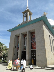 The new church of Debre Libanos, built by emperor Hailé Sélassié in 1961