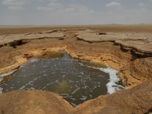 hot spring in Dallol