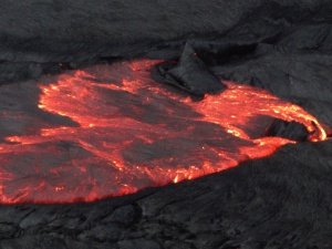 the lava at work at Erta Ale
