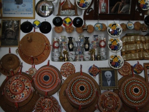 wall decoration inside a traditional house in Old Harar