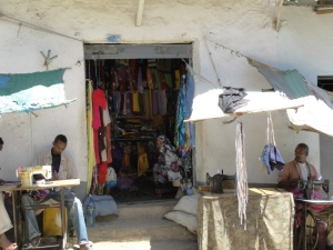 """machina street"" in the heart of old Harar where tailors have their business"