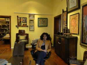 Selamawit Alene in her gallery, the St George's gallery in Addis