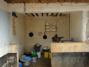 the kitchen inside a Zanzibar farmer's house