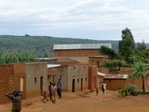 A remote village in rural Rwanda
