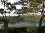 The Nile river in Jinja, Uganda, at the exit of Lake Victoria