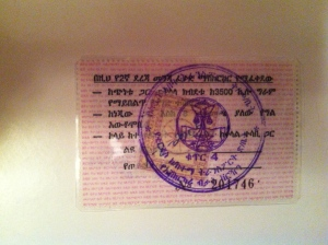 Temporary Ethiopian driving licence