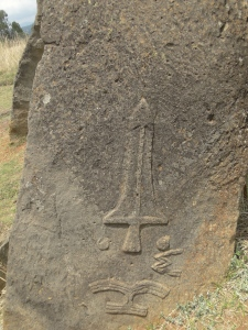 Engraving of a sword on one of the Tiya stelae