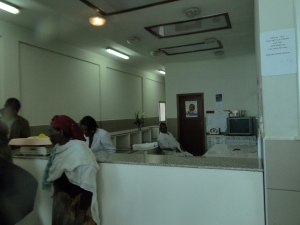 Newly refurbished Emergency paediatric room at Addis's Yekatit 12 public hospital