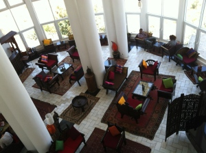 the lounge at La Residence