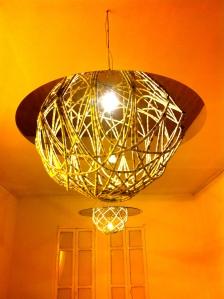 installation using traditional Ethiopian baskets
